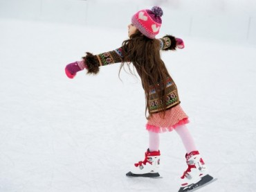 Türkiye'nin en büyük açık hava buz pisti
